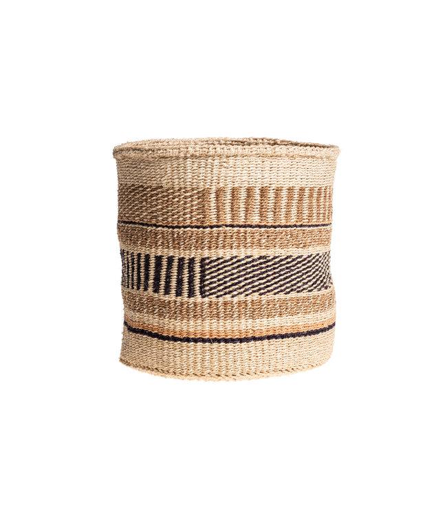 Sisal basket Kenya - earth colors, practical weave #261