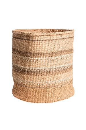 Couleur Locale Sisal basket Kenya - earth colors, practical weave #262
