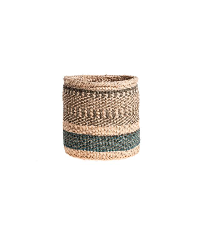 Couleur Locale Sisal mandje Kenia - kleurrijk, practical weave #232