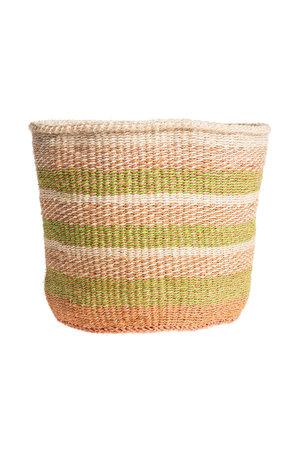 Couleur Locale Sisal mandje Kenia - kleurrijk, practical weave #246