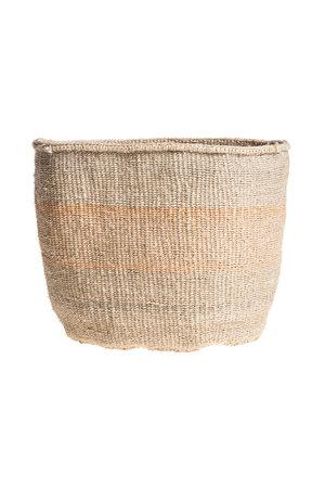 Couleur Locale Sisal mandje Kenia - kleurrijk, practical weave #245