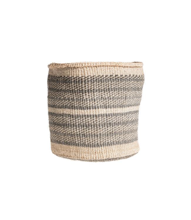 Couleur Locale Sisal mandje Kenia - kleurrijk, practical weave #244