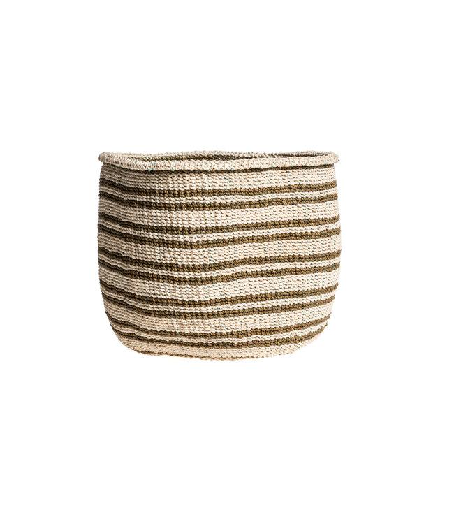 Couleur Locale Sisal mandje Kenia - kleurrijk, practical weave #242