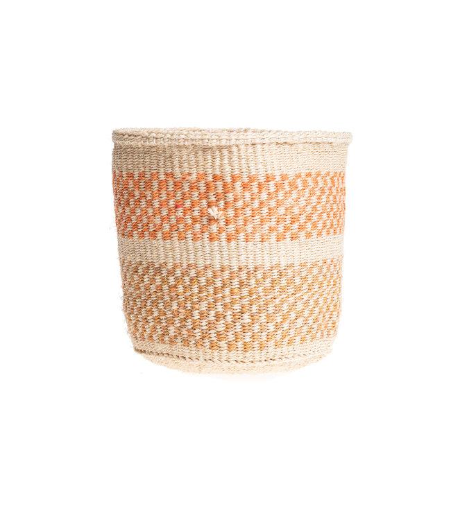 Couleur Locale Sisal mandje Kenia - kleurrijk, practical weave #241