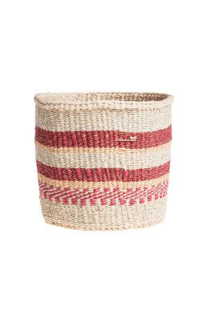 Couleur Locale Sisal basket Kenya - colorful, practical weave #240