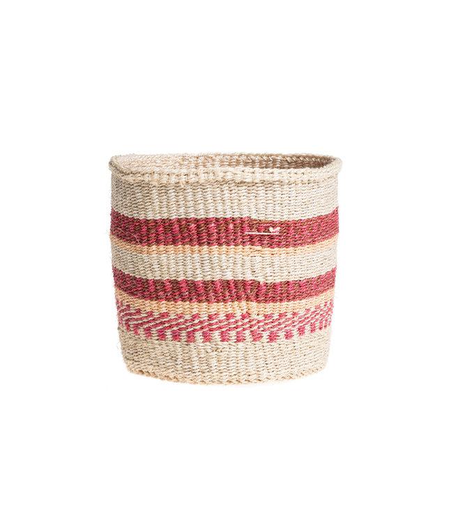 Couleur Locale Sisal mandje Kenia - kleurrijk, practical weave #240