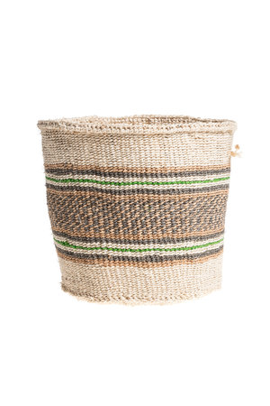 Couleur Locale Sisal basket Kenya - colorful, practical weave #239