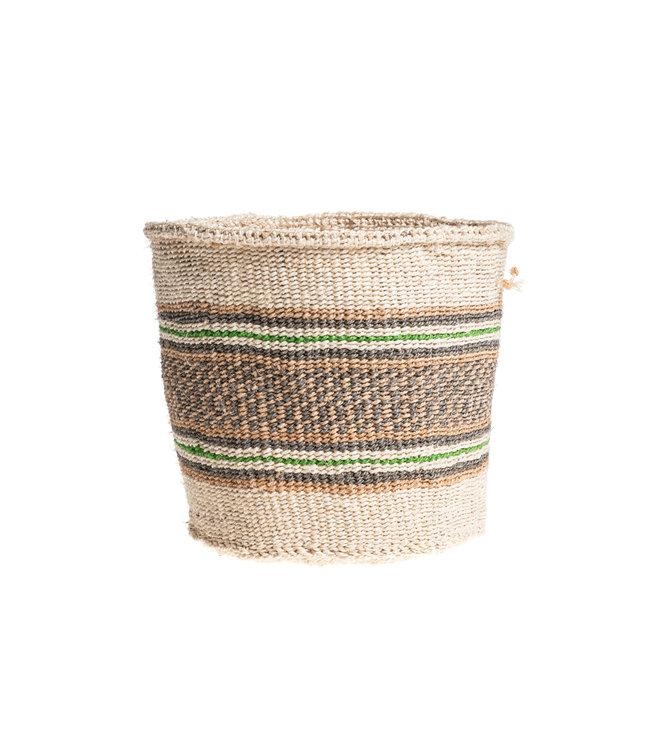 Couleur Locale Sisal mandje Kenia - kleurrijk, practical weave #239