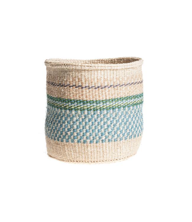 Sisal basket Kenya - colorful, practical weave #238