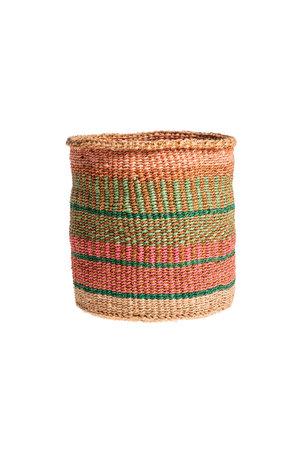 Couleur Locale Sisal basket Kenya - colorful, practical weave #236