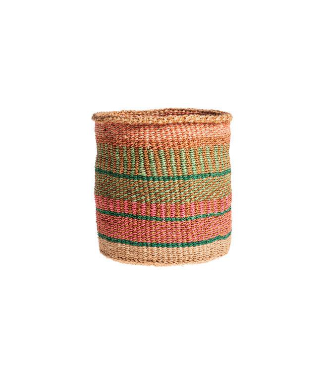 Couleur Locale Sisal mandje Kenia - kleurrijk, practical weave #236
