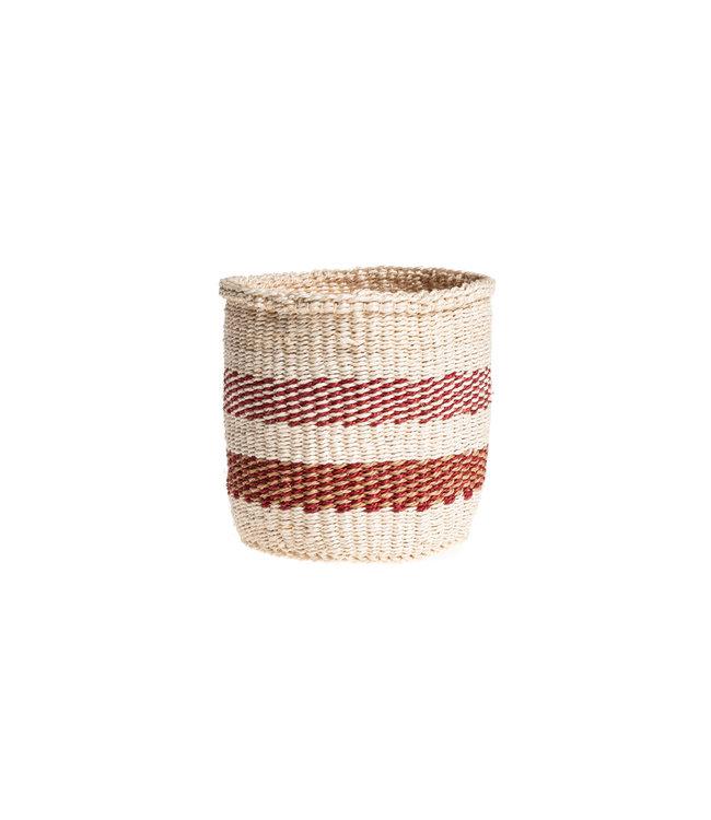 Sisal basket Kenya - colorful, practical weave #235