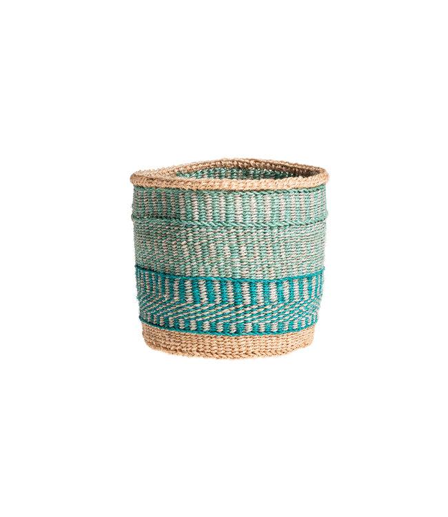 Sisal mandje Kenia - kleurrijk, practical weave #234