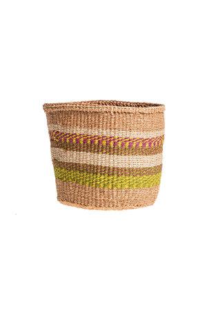 Couleur Locale Sisal basket Kenya - colorful, practical weave #233