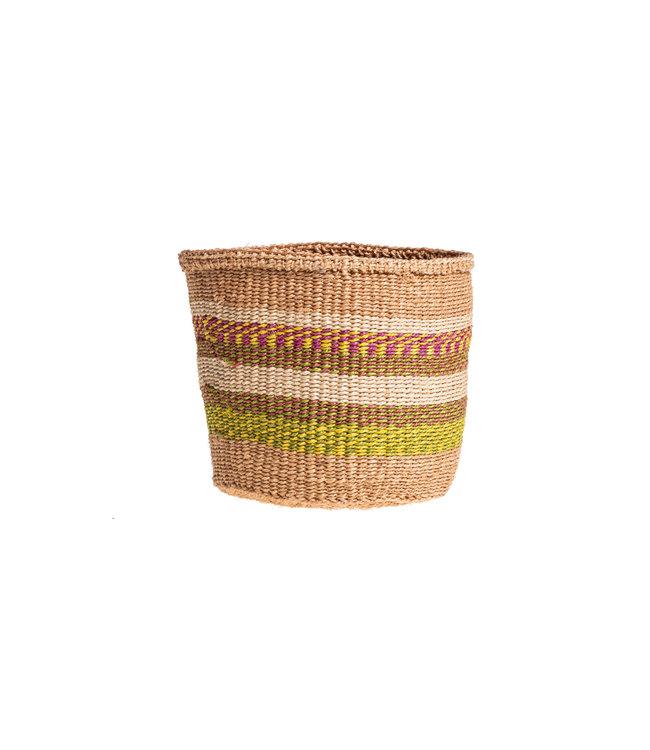 Couleur Locale Sisal mandje Kenia - kleurrijk, practical weave #233