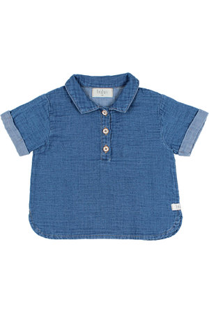 Buho Baby denim shirt - indigo
