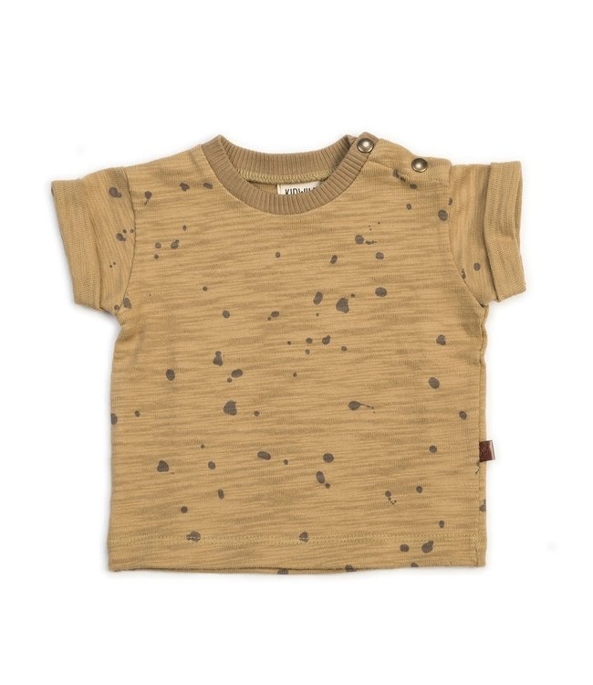 Kidwild Collective Organic tee - splatter AOP honey