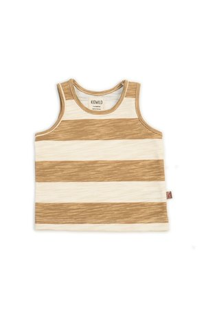Kidwild Collective Organic tank - stripe honey