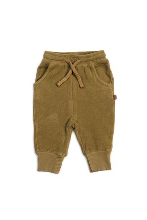 Kidwild Collective Organic terry joggers - olive