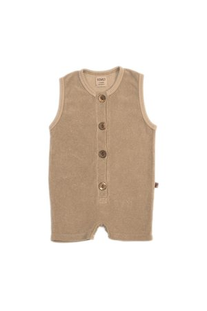 Kidwild Collective Organic terry romper - fawn