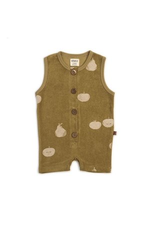 Kidwild Collective Organic terry romper - apple pear AOP