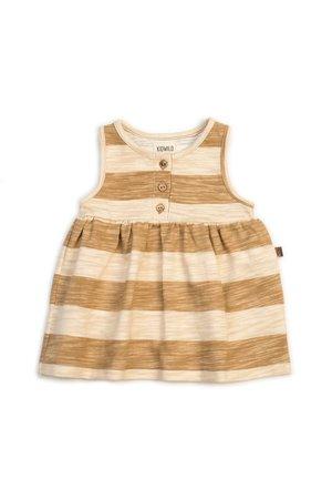 Kidwild Collective Organic tank dress - honey stripe