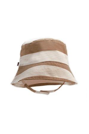 Kidwild Collective Organic bucket hat - stripe brick