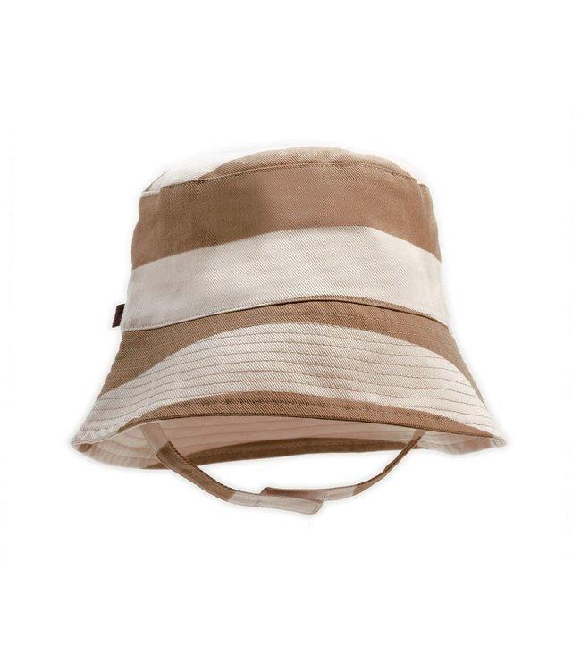 Organic bucket hat - stripe brick