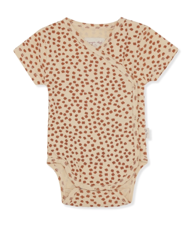 New born body short sleeve - buttercup rosa
