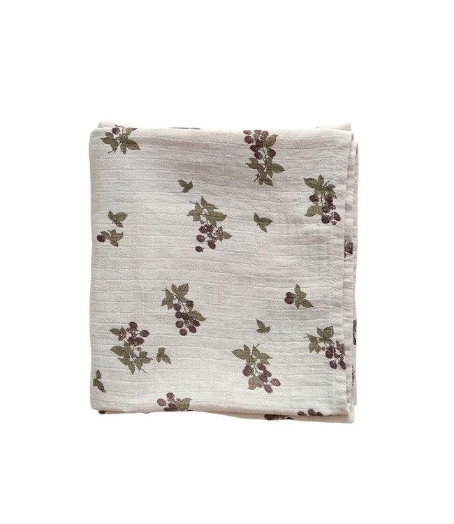 Muslin swaddle blanket -  blackberry