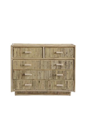 Tine K Home Cabinet with 5 drawers, rattan