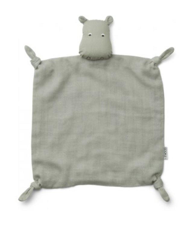 Liewood Agnete cuddle cloth - hippo dove blue