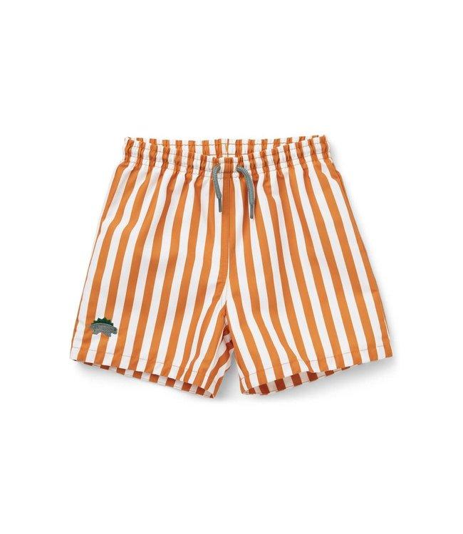 Liewood Duke board shorts - mustard/white