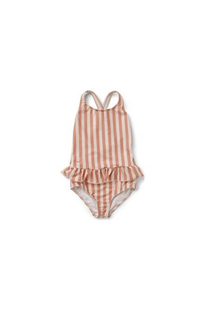 Liewood Amara badpak- stripe: coral blush/creme de la creme