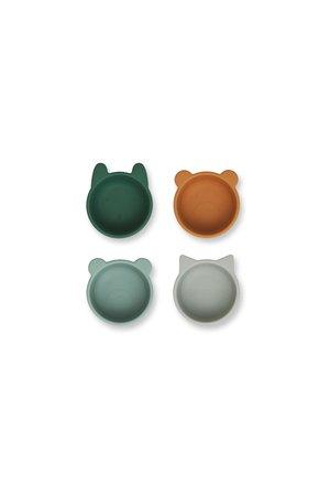 Liewood Malene silicone kommetje 4-pack - green multi mix