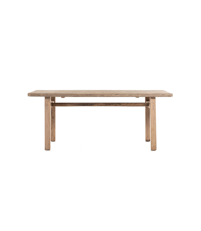 Table elm with wooden legs - 190cm