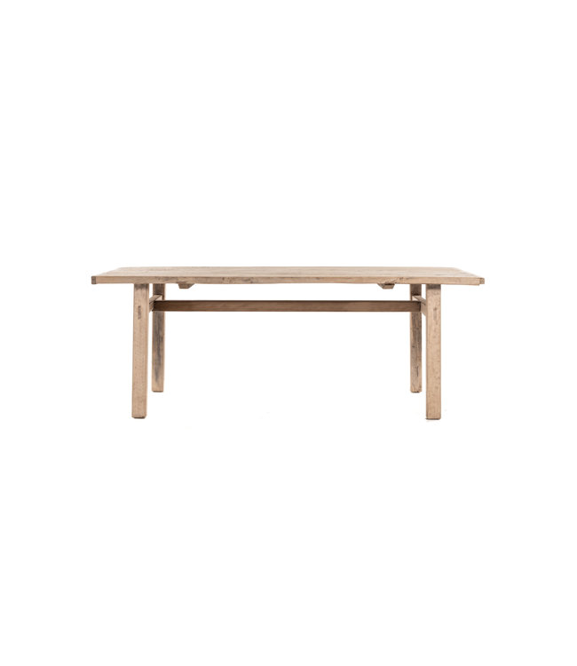 Table elm with wooden legs - 205cm