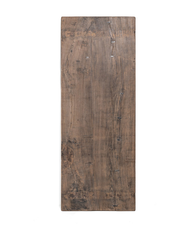 Table old Chinese door, dark elm #4 - 220cm