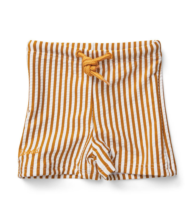 Liewood Otto swim pants seersucker - stripe mustard/white