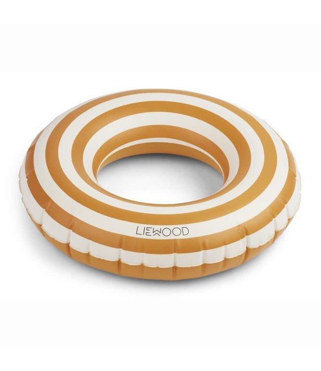 Liewood Baloo swim ring - stripe: mustard/creme de la creme