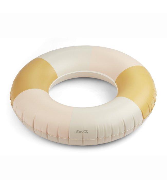 Liewood Donna swim ring - stripe: peach/sandy/yellow mellow