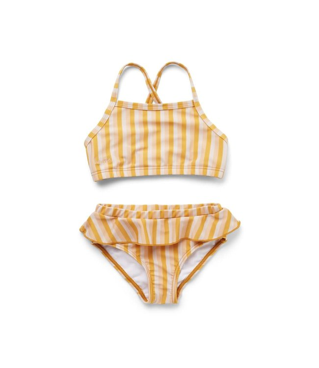 Liewood Norma bikini set - stripe: peach/sandy/yellow mellow