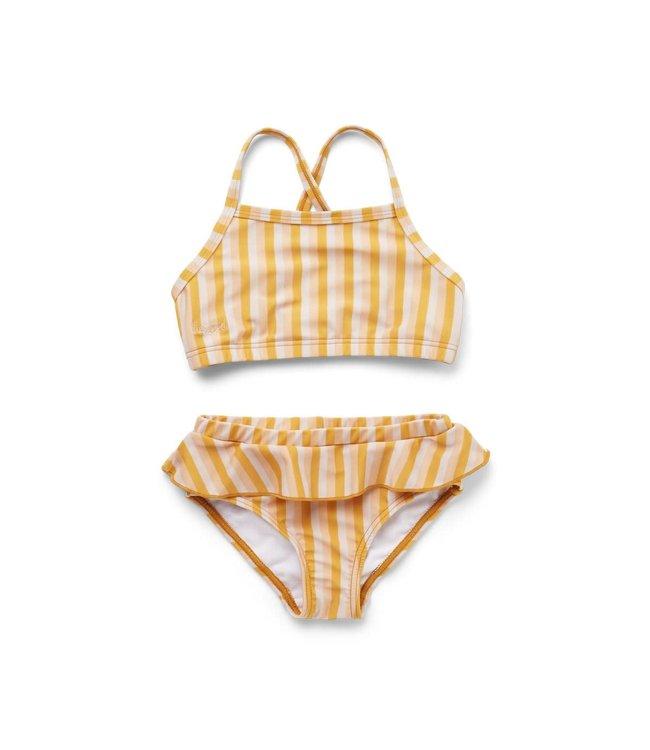 Norma bikini set - stripe: peach/sandy/yellow mellow