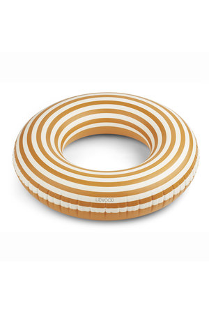 Liewood Donna swim ring - stripe:mustard/creme de la creme