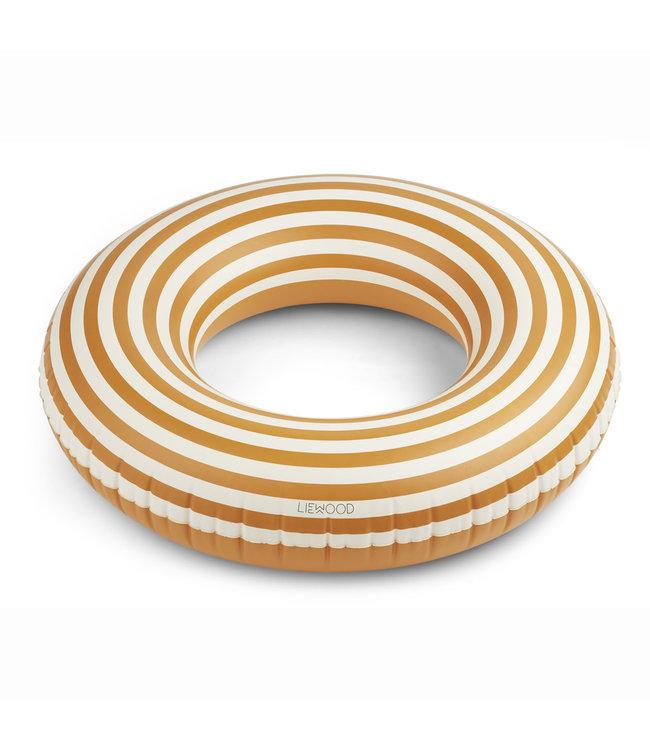 Donna swim ring - stripe:mustard/creme de la creme
