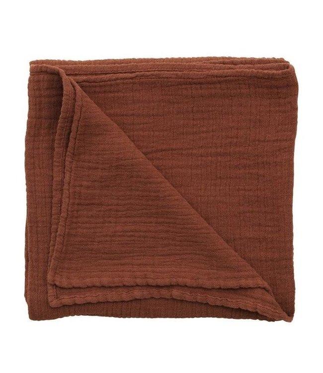 Cinnamon muslin swaddle blanket