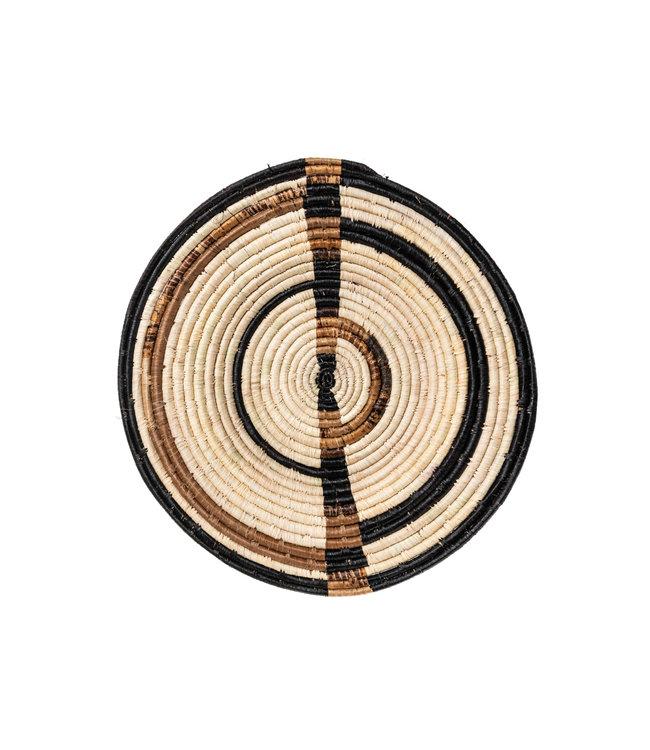 Small woven wall art plate