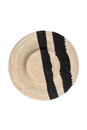Black double striped geweven wandschaal