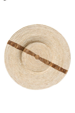 Jumbo banana leaf stripe geweven wandschaal
