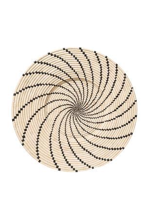 Jumbo black Shujaa woven wall art plate